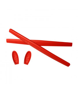 HKUCO Red Replacement Silicone Leg Set For Oakley X Metal Series Sunglasses Earsocks Rubber Kit