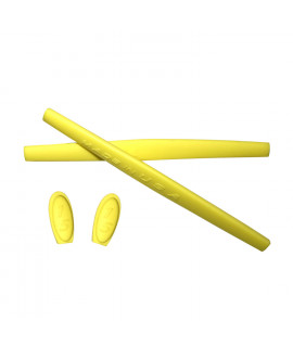 HKUCO Yellow Replacement Silicone Leg Set For Oakley X Metal XX Sunglasses Earsocks Rubber Kit