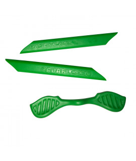 HKUCO Green Replacement Silicone Leg Set For Oakley Radarlock Sunglasses Earsocks Rubber Kit