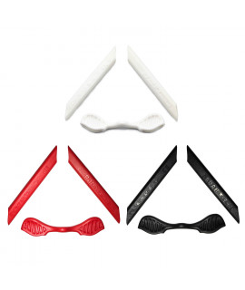 HKUCO Red/Black/White Replacement Silicone Leg Set For Oakley Radarlock Sunglasses Earsocks Rubber Kit