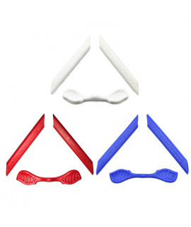 HKUCO Red/Blue/White Replacement Silicone Leg Set For Oakley Radarlock Sunglasses Earsocks Rubber Kit