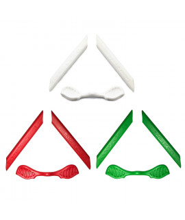 HKUCO Red/Green/White Replacement Silicone Leg Set For Oakley Radarlock Sunglasses Earsocks Rubber Kit