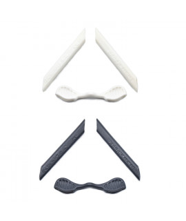 HKUCO Grey/White 2 Pairs Replacement Silicone Leg Set For Oakley Radarlock Sunglasses Earsocks Rubber Kit