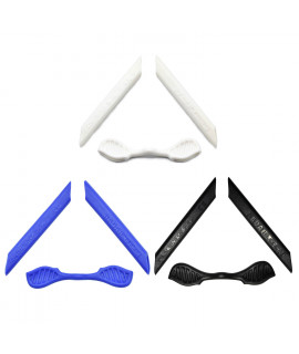 HKUCO Blue/Black/White Replacement Silicone Leg Set For Oakley Radarlock Sunglasses Earsocks Rubber Kit