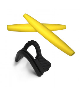 HKUCO Yellow Replacement Silicone Leg Nose Pads For Oakley M Frame Series Earsocks Rubber Kit