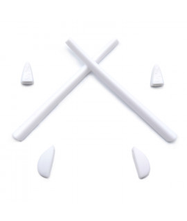 HKUCO White Replacement Silicone Leg Set For Oakley Romeo 2.0 Sunglasses Earsocks Rubber Kit
