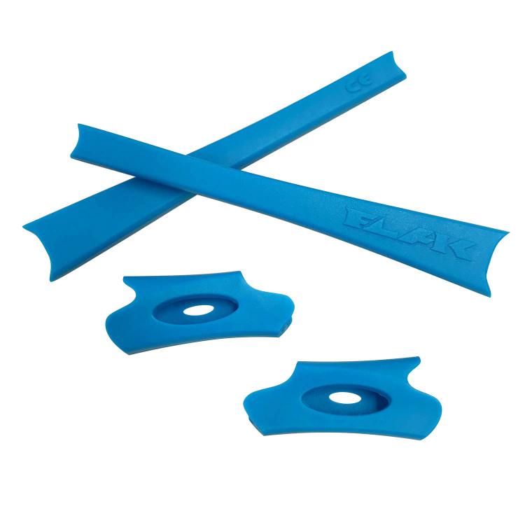 HKUCO Blue/Green Replacement Rubber Kit For Oakley Flak Jacket/Flak Jacket XLJ Sunglass Earsocks rJDvWD