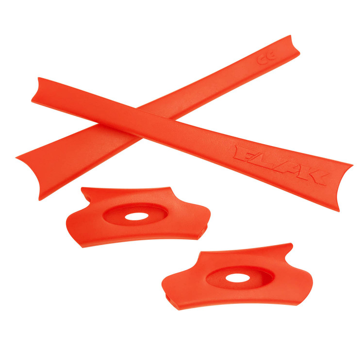 HKUCO Red/Orange Replacement Rubber Kit For Oakley Flak Jacket/Flak Jacket XLJ Sunglass Earsocks OupxSkiRj