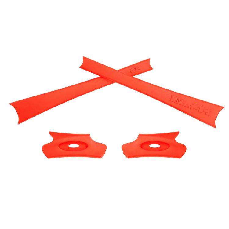HKUCO Red/Orange Replacement Rubber Kit For Oakley Flak Jacket/Flak Jacket XLJ Sunglass Earsocks bL7l0ngf