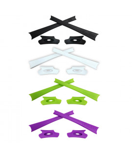 HKUCO Light Green/White/Purple/Black Replacement Rubber Kit For Oakley Flak Jacket /Flak Jacket XLJ  Sunglass Earsocks