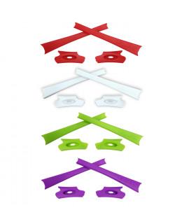 HKUCO Light Green/White/Purple/Red Replacement Rubber Kit For Oakley Flak Jacket /Flak Jacket XLJ  Sunglass Earsocks