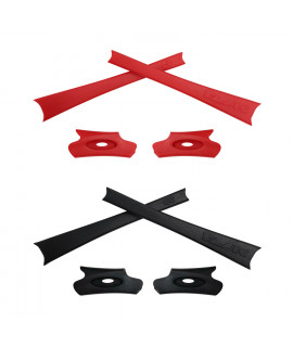 HKUCO Red/Black Replacement Rubber Kit For Oakley Flak Jacket /Flak Jacket XLJ  Sunglass Earsocks