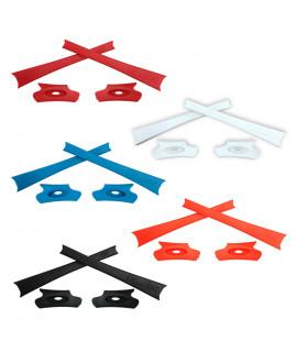 HKUCO Red/Blue/Black/White/Orange Replacement Rubber Kit For Oakley Flak Jacket /Flak Jacket XLJ  Sunglass Earsocks