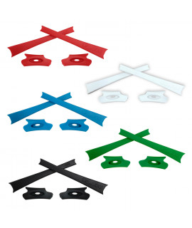 HKUCO Red/Blue/Black/White/Green Replacement Rubber Kit For Oakley Flak Jacket /Flak Jacket XLJ  Sunglass Earsocks