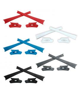 HKUCO Red/Blue/Black/White/Grey Replacement Rubber Kit For Oakley Flak Jacket /Flak Jacket XLJ  Sunglass Earsocks