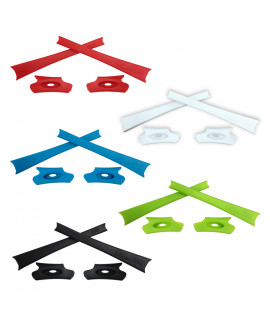 HKUCO Red/Blue/Black/White/Light Green Replacement Rubber Kit For Oakley Flak Jacket /Flak Jacket XLJ  Sunglass Earsocks