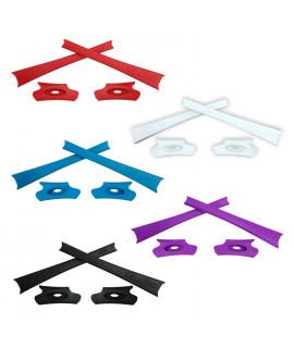 HKUCO Red/Blue/Black/White/Purple Replacement Rubber Kit For Oakley Flak Jacket /Flak Jacket XLJ  Sunglass Earsocks
