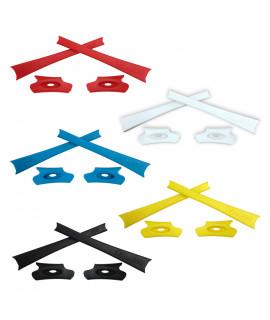 HKUCO Red/Blue/Black/White/Yellow Replacement Rubber Kit For Oakley Flak Jacket /Flak Jacket XLJ  Sunglass Earsocks