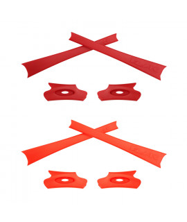 HKUCO Red/Orange Replacement Rubber Kit For Oakley Flak Jacket /Flak Jacket XLJ  Sunglass Earsocks