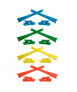 HKUCO Yellow/Green/Blue/Orange Replacement Rubber Kit For Oakley Flak Jacket /Flak Jacket XLJ  Sunglass Earsocks
