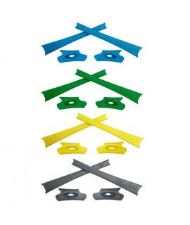 HKUCO Yellow/Green/Blue/Grey Replacement Rubber Kit For Oakley Flak Jacket /Flak Jacket XLJ  Sunglass Earsocks