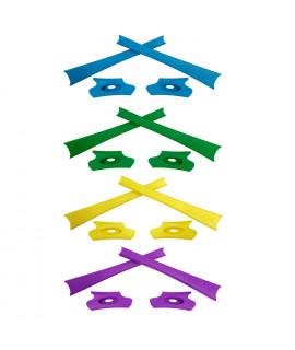 HKUCO Yellow/Green/Blue/Purple Replacement Rubber Kit For Oakley Flak Jacket /Flak Jacket XLJ  Sunglass Earsocks