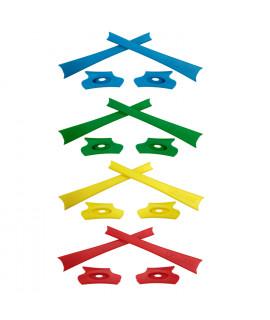 HKUCO Yellow/Green/Blue/Red Replacement Rubber Kit For Oakley Flak Jacket /Flak Jacket XLJ  Sunglass Earsocks