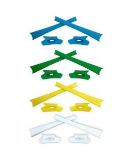 HKUCO Yellow/Green/Blue/White Replacement Rubber Kit For Oakley Flak Jacket /Flak Jacket XLJ  Sunglass Earsocks