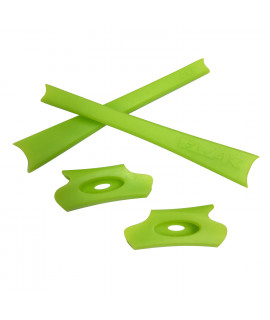 HKUCO Light Green Replacement Rubber Kit For Oakley Flak Jacket /Flak Jacket XLJ  Sunglass Earsocks
