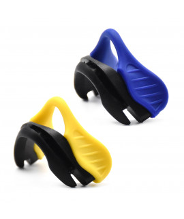 HKUCO Blue/Yellow Replacement Silicone Nose Pads For Oakley EVZero OO9308 Earsocks 2 pics