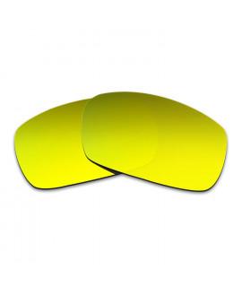 Hkuco Mens Replacement Lenses For Spy Optic Dirk Sunglasses 24K Gold Polarized