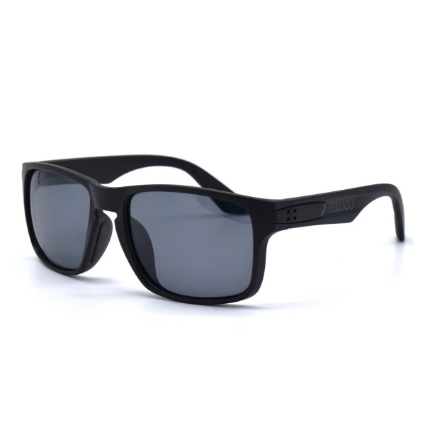 HKUCO Classic Design Black plastic Frame Sunglass With Black Lenses