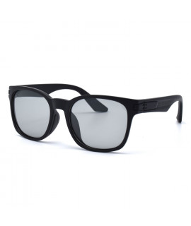 HKUCO Basic Fashion Black plastic Frame Sunglass With Transparent Photochromic Lenses