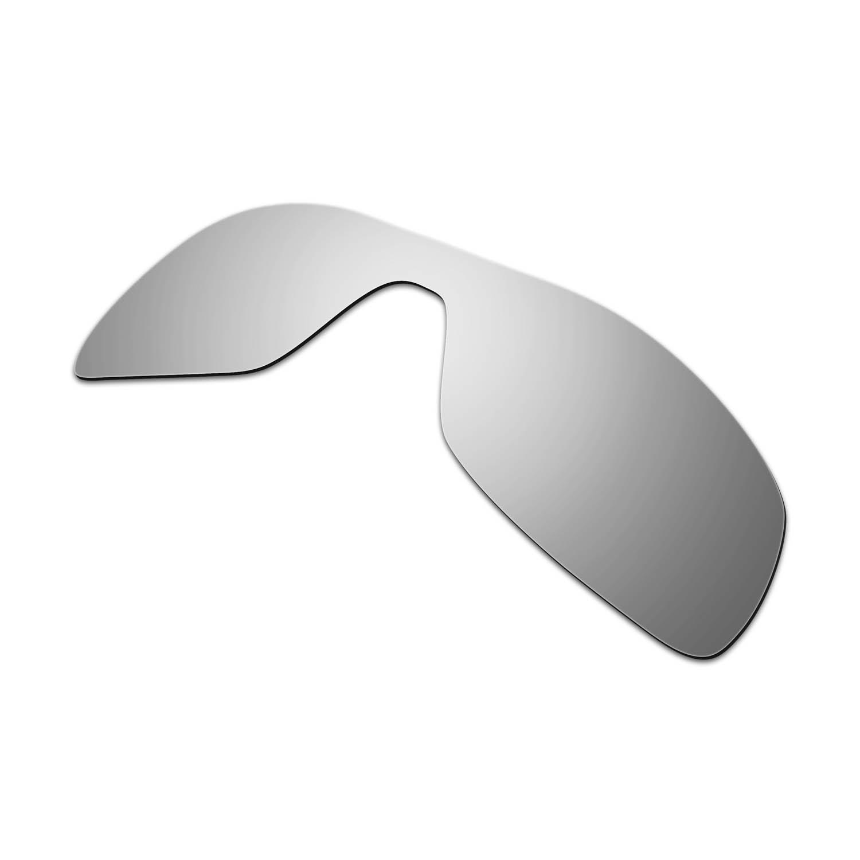 HKUCO Mens Replacement Lenses for Oakley Antix Sunglasses Titanium Mirror Polarized wxoSC37KQ