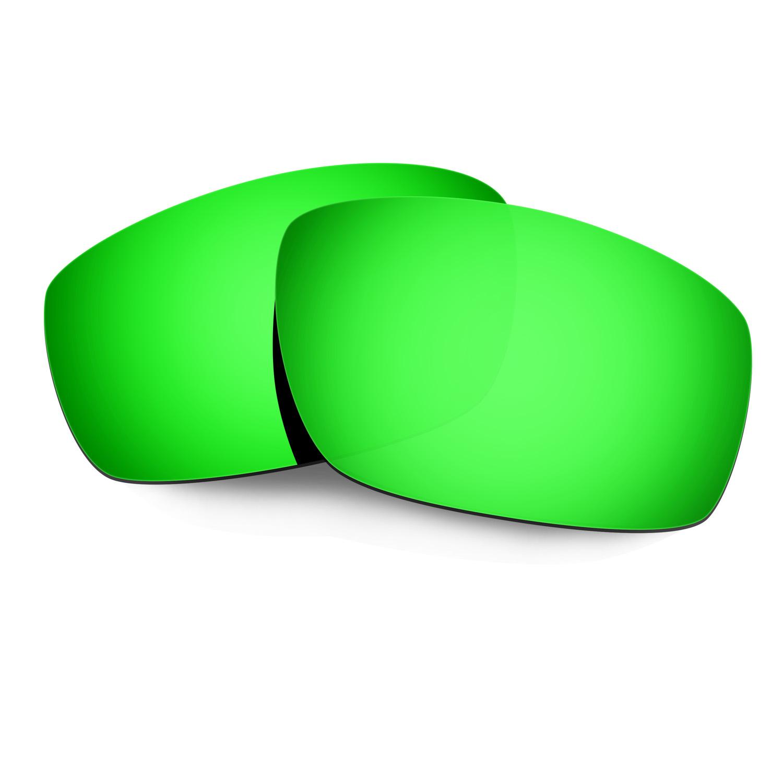 HKUCO Mens Replacement Lenses For Oakley Splinter Sunglasses Emerald Green Polarized 94DQO